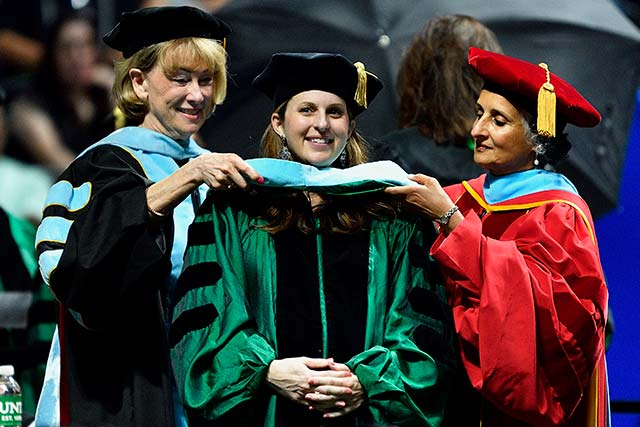 A UNT student earns an Ed.D.