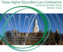 Texas Higher Education Law Conference at UNT