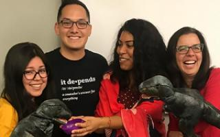 Mónica Rodríguez, Joey Tapia-Fuselier, Ana Guadalupe Reyes and Dr. Peggy Ceballos bring play therapy training to Puerto Rico